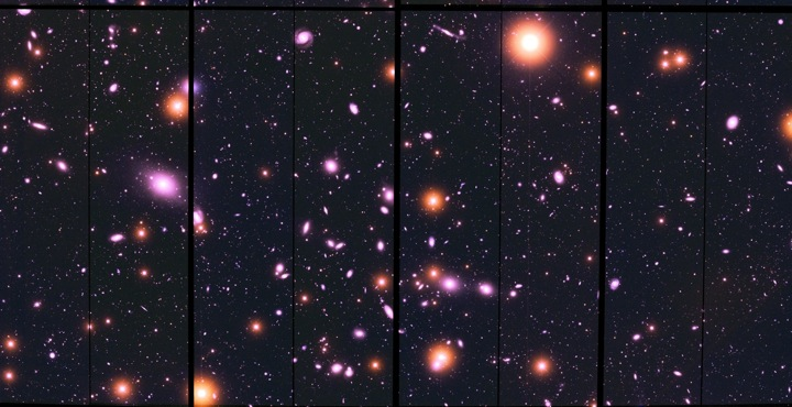 A beautiful ESSENCE field showing an Abell cluster of galaxies - Credit: Peter Challis (CfA, Harvard)